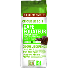 Café moulu pure origine Equateur bio ETHIQUABLE, 250g