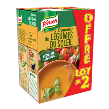 Knorr Douceur Légumes Du Soleil Pointe D'origan Knorr, 2x1l
