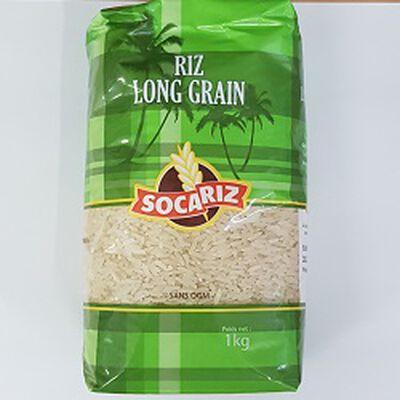 Riz long grain, SOCARIZ, le paquet de 1Kg