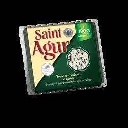 Fromage pasteurisé à pâte persillée 33% de matière grasse ST AGUR, 190g
