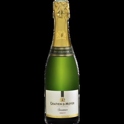 Vin blanc AOP brut Saumur GRATIEN & MEYER, bouteille de 75cl