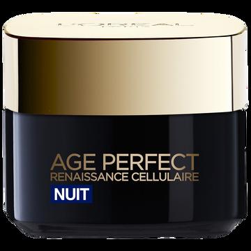 L'Oréal Soin De Nuit Age Perfect Renaissance Cellulaire L'oreal, Pot De 50ml