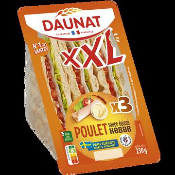 Daunat Sandwich Club Xxl Pain Suédois Poulet Sauce Épices Kebab Daunat 230g