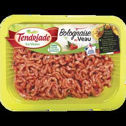 Bolognaise au veau, TENDRIADE, France, barquette, 400g