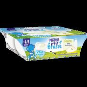 Nestlé P'tit Brassé Poire Nestle, Dès 4 À 6 Mois, 6x60g