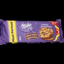 Biscuits coeur choco fondant sensation MILKA, paquet de 312g