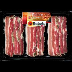 Poitrine de porc ail & persil, LES BRASERADES, Barquette, 400g