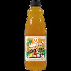 Nectar mangue mangoustan U, bouteille en plastique de 1L, édition limitée
