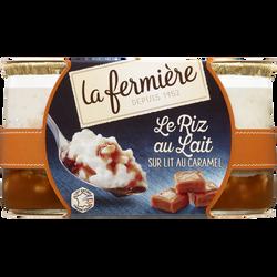 Riz au lait sur lit de caramel LA FERMIERE, 2x160g