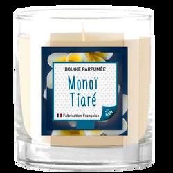 Bougie parfumé monoï tiaré-dans un contenant en verre