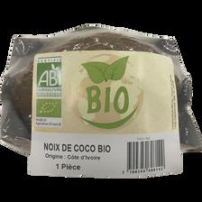 Noix de coco, BIO, Cote d'ivoire, barquette 1 fruit