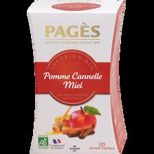Infusion pomme cannelle miel BIO PAGES, 20 sachets, 30g