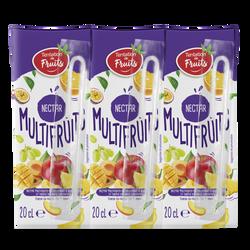 Nectar multifruits Tentation de fruits, bouteille en plastique, 6x20cl