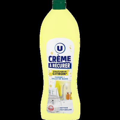 Crème à récurer fraîcheur citron pour cuisine et salle de bain U, flacon de 750ml