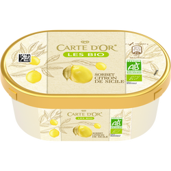 Crème glacé citron bio CARTE D'OR, 300g