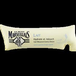 Gel mousse extra doux lait Le PETIT MARSEILLAIS, berlingot de 250ml