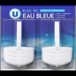 Blocs wc eau bleue U, 2x40g