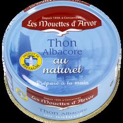Thon albacore au naturel MOUETTE D'ARVOR boîte 112g