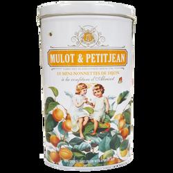 Mini nonnettes à l'abricot MULOT ET PETITJEAN, x10 boite en fer