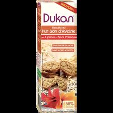 Biscuit pur son d'avoine 3 graines et fleurs hibiscus, DUKAN, 95g