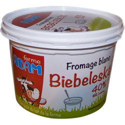 Fromage blanc Ferme Adam, 40%MG, 500g