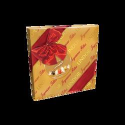 Boîte cadeau Lindor bouchées de chocolat au lait LINDT, boîte de 287g