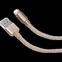 Cable tresse SBS lightning mfi 1m gold-connecteur métal