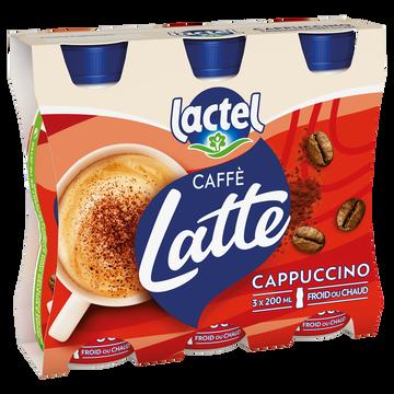 Lactel Boisson Lactée Sucrée Au Café Et Cacao Uht- Lactel- Bouteille 3x200ml