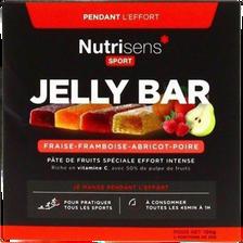 Jelly bar panachés NUTRISENS SPORT, étui de 4x25g soit 100g