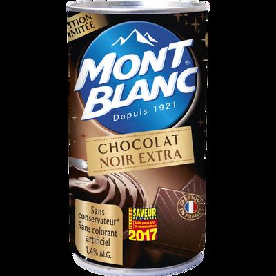 Crème dessert chocolat noir 70% cacao MONT BLANC, boîte de 500g