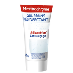MERCUROCHROME GEL MAINS DESINFECTANT ANTIBACTERIEN, tube de 75 ml