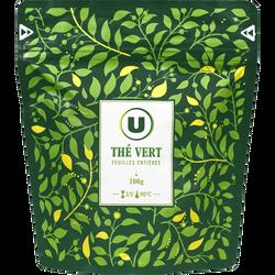 Thé vert feuilles entières U, doypack vrac de 100g
