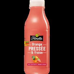 Jus d'orange/fraise pressé, FLORETTE, bouteille, 700ml