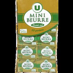 Mini beurre demi sel U, 80% de MG, paquet de 200g