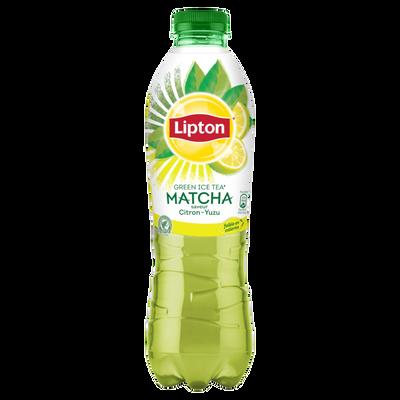 LIPTON Green matcha/citron/yuzu, bouteille en plastique de 1litre