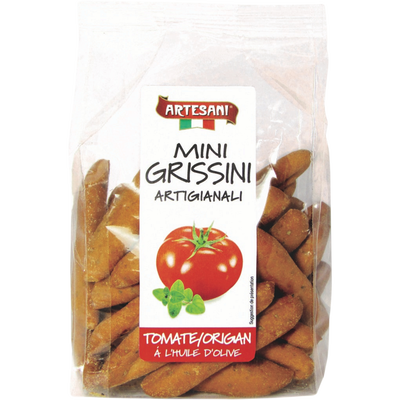 Artigianali Mini-Grissini à la tomate et origan ARTESANI, 150g