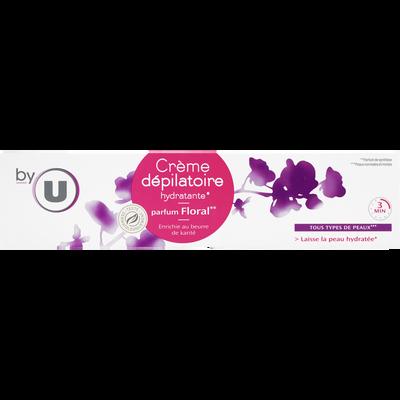Crème dépilatoire pour peaux normales senteur floral BY U, tube de 200ml