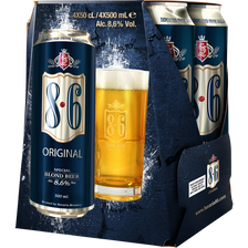 Bière blonde 8.6 Original 8,6° pack boîtes 4x50cl