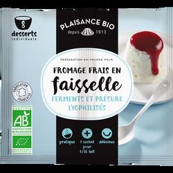 Ferment pour faisselle et fromage frais PLAISANCE BIO, 12g