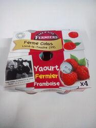 YAOURT FRAMBOISE FERMIER X4