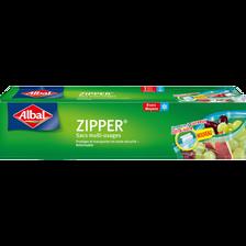 Sacs zipper multi-usages fond plat moyen modèle ALBAL, 8 X 3 litres