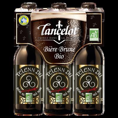 Bière brune Telenn du Lancelot biologique LANCELOT, 4,5°, 3x33cl