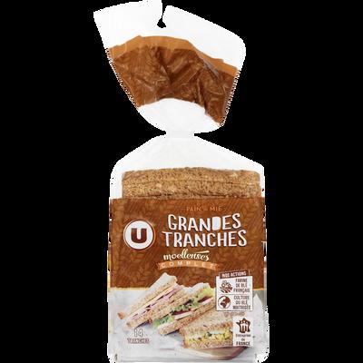 Pain de mie sandwich complet U, 550g