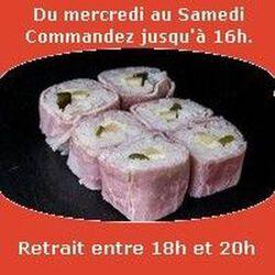 Mont Blanc rolls 6 pièces,Jambon blanc beurre comté cornichon,SUSHI MONT BLANC