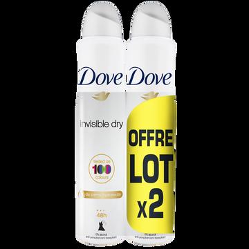 Dove Déodorant Invisible Dry Dove, 2x200ml