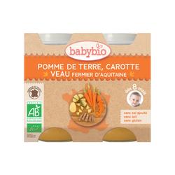 Pot Pomme de terre Carotte Veau BABYBIO dès 8 mois 2X200g
