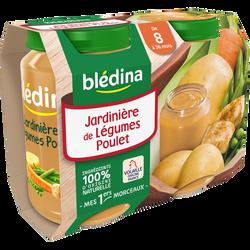 Petits pots pour bébé jardinière de légumes et poulet BLEDINA, dès 8 mois, 2x200g