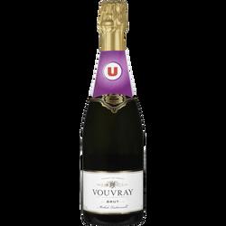 Vin blanc AOC Vouvray brut U , 75cl