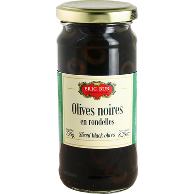Olives noires en rondelle ERIC BUR, 120g