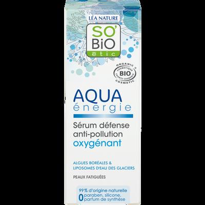 Sérum défense anti pollution oxygénant Aqua energie Bio LEA NATURE, flacon de 30ml